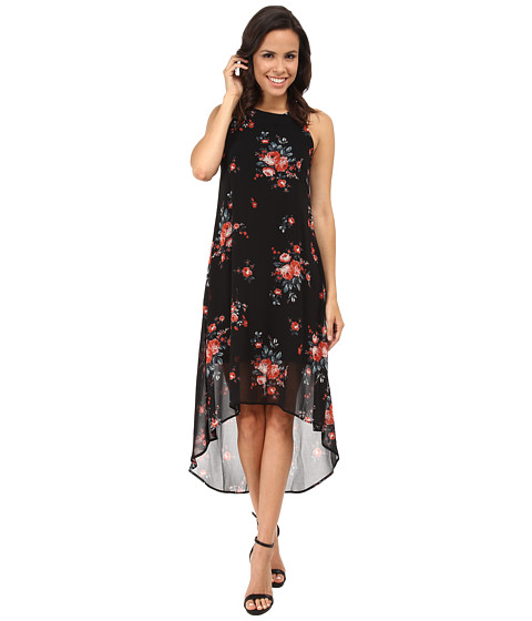 Karen Kane - Rose Print Hi-Lo Dress (Print) Women's Dress