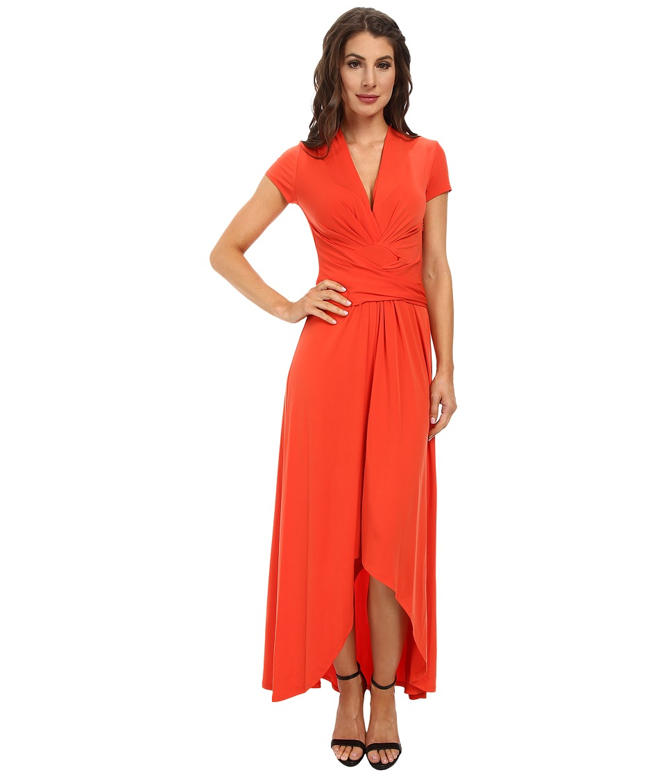 MICHAEL Michael Kors - Capsleeve Maxi Wrap Dress (Grenadine) Women's Dress