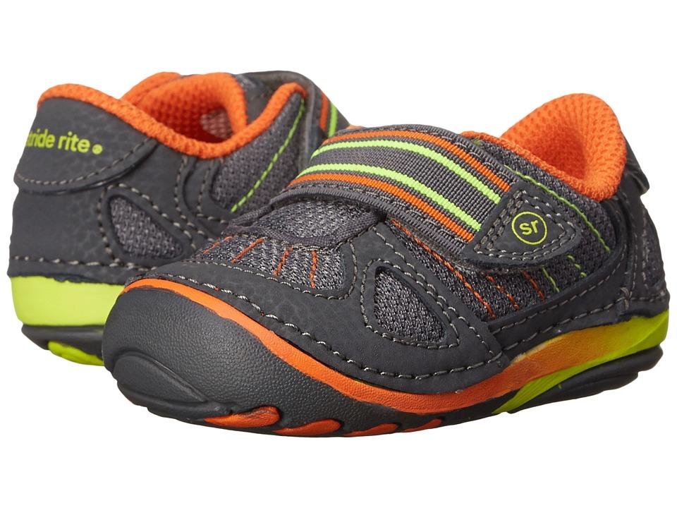 Stride Rite - SRT SM Link (Infant/Toddler) (Grey) Boy's Shoes