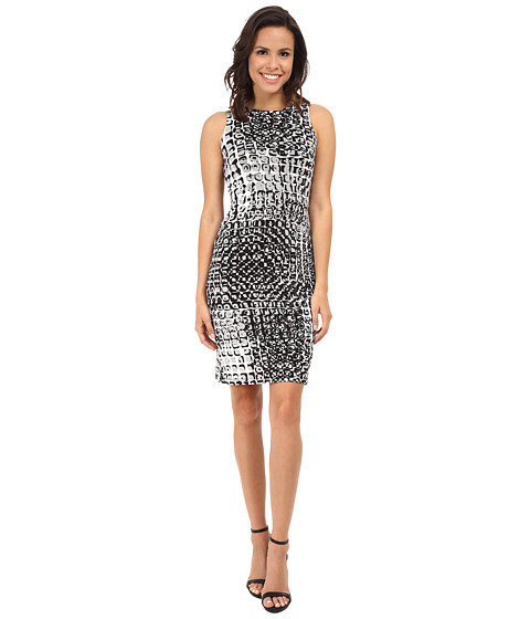 Karen Kane - Illusion Print Dress (Print) Women