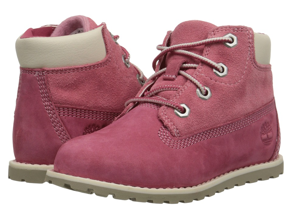 Timberland Kids - Pokey Pine 6 Boot w/ Side Zip (Toddler/Little Kid) (Pink Nubuck) Girls Shoes