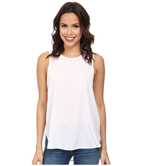 MICHAEL Michael Kors - Sleeveless Tank Top (White) Women's Sleeveless