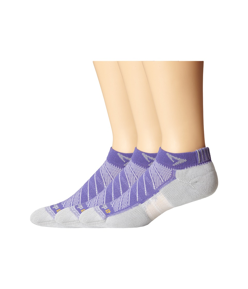 Drymax Sport - Max Cushion Run-Packaged Mini Crew 3-Pair Pack (Lilac) Crew Cut Socks Shoes