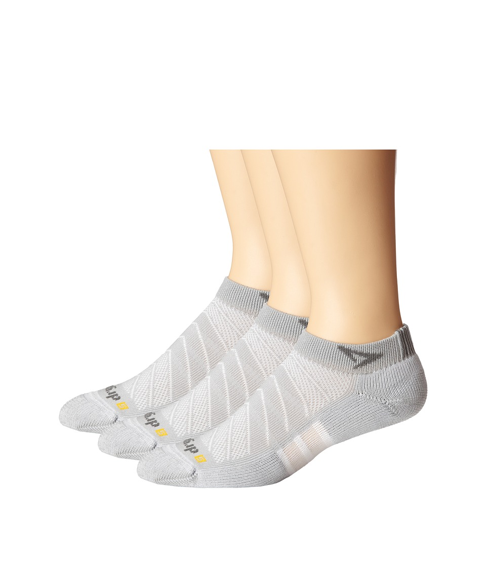 Drymax Sport - Max Cushion Run-Packaged Mini Crew 3-Pair Pack (Gray) Crew Cut Socks Shoes