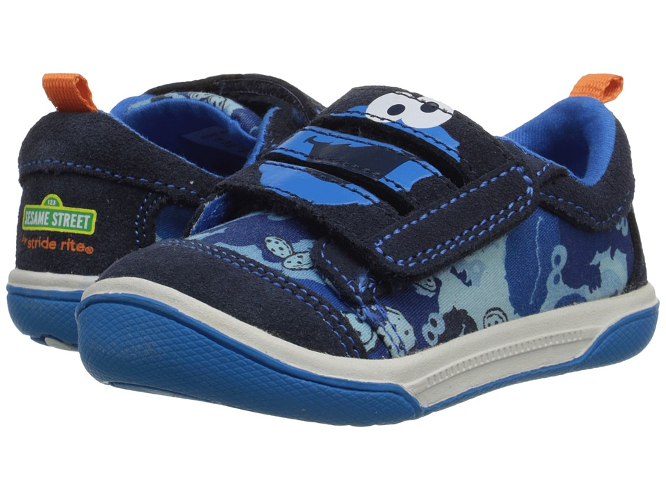 Stride Rite - Sesame Street Cookie Monster 3-Strap (Toddler) (Blue) Boy's Shoes