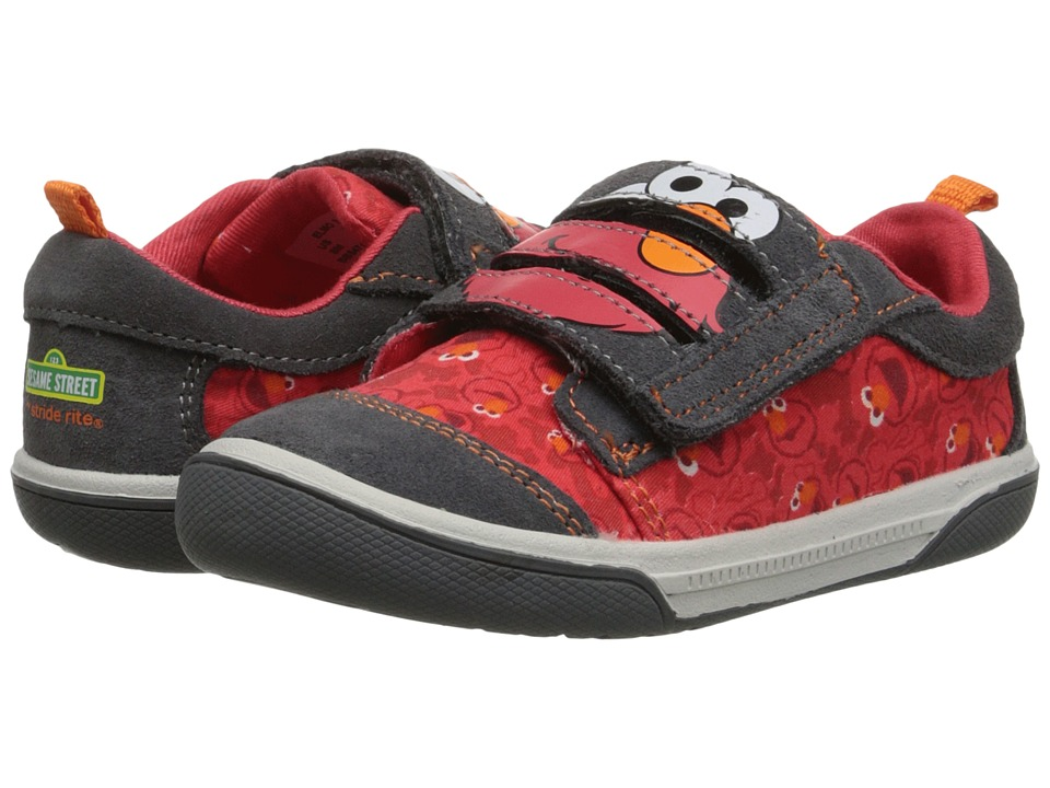 Stride Rite - Sesame Street Elmo 3-Strap (Toddler) (Grey/Red) Boy's Shoes