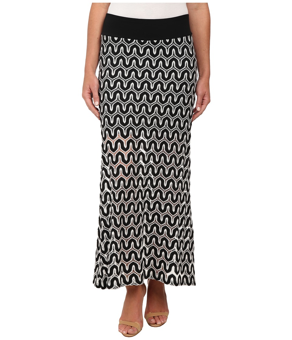 Karen Kane - Crochet Maxi Skirt (Black/Off White) Women