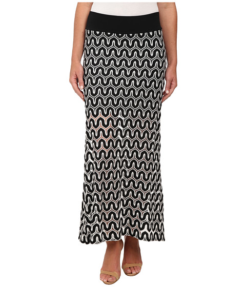Karen Kane - Crochet Maxi Skirt (Black/Off White) Women's Skirt