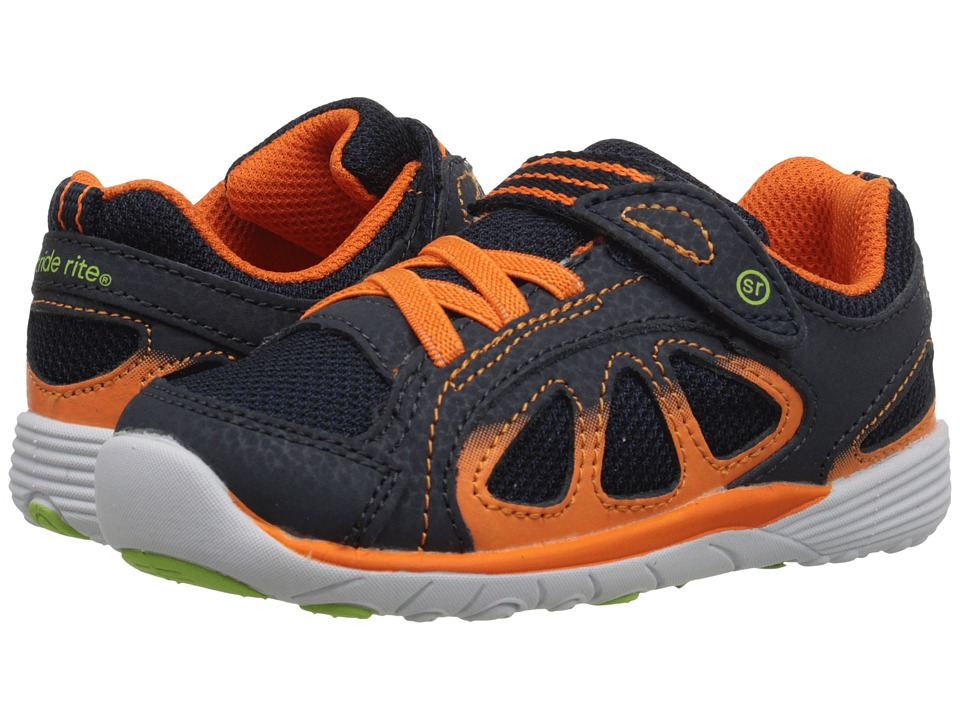 Stride Rite - SRT Flash (Toddler) (Navy/Orange) Boys Shoes