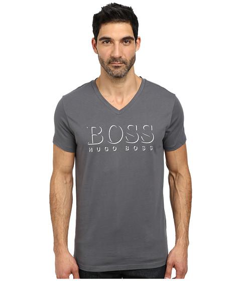 BOSS Hugo Boss - Short Sleeve V-Neck BM 10144 Boss logo SPF Tee (Charcoal) Men