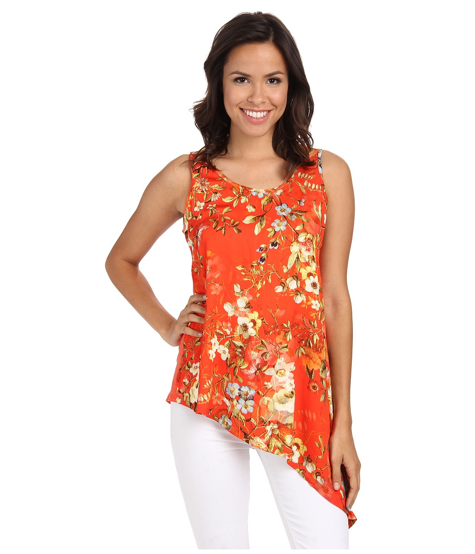 Karen Kane - Asymmetrical Hem Tank Top (Print) Women's Sleeveless