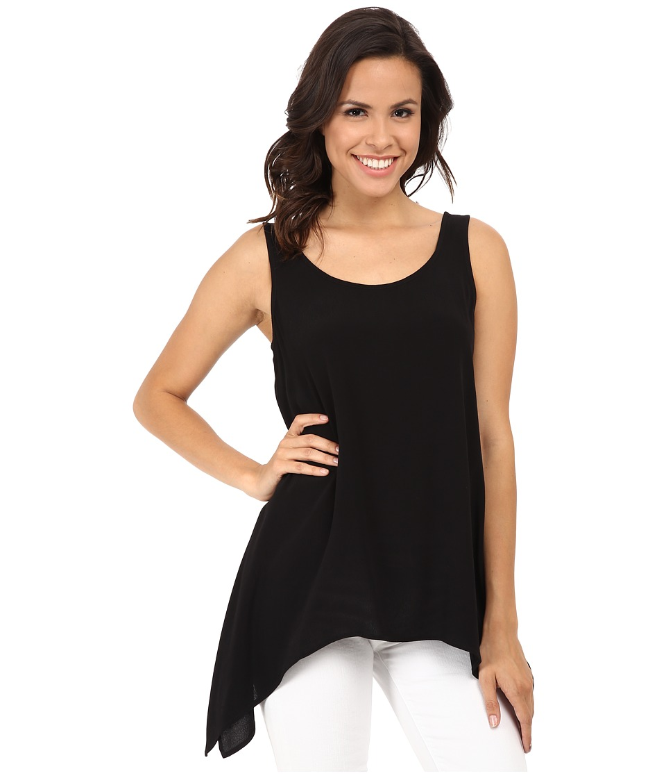 Karen Kane - Crepe Handkerchief Tank Top (Black) Women