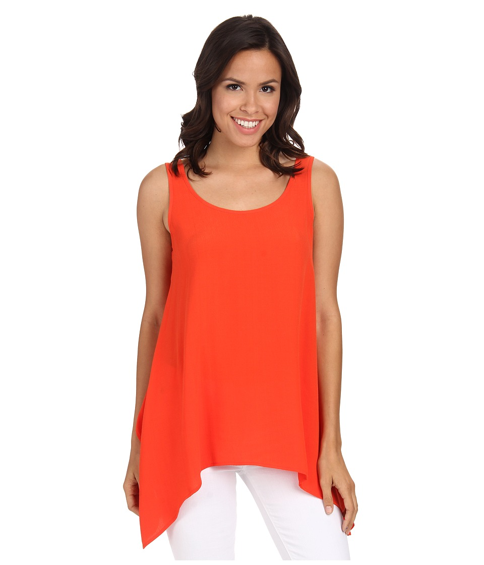 Karen Kane - Crepe Handkerchief Tank Top (Orange) Women