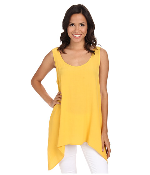 Karen Kane - Crepe Handkerchief Tank Top (Yellow) Women's Sleeveless