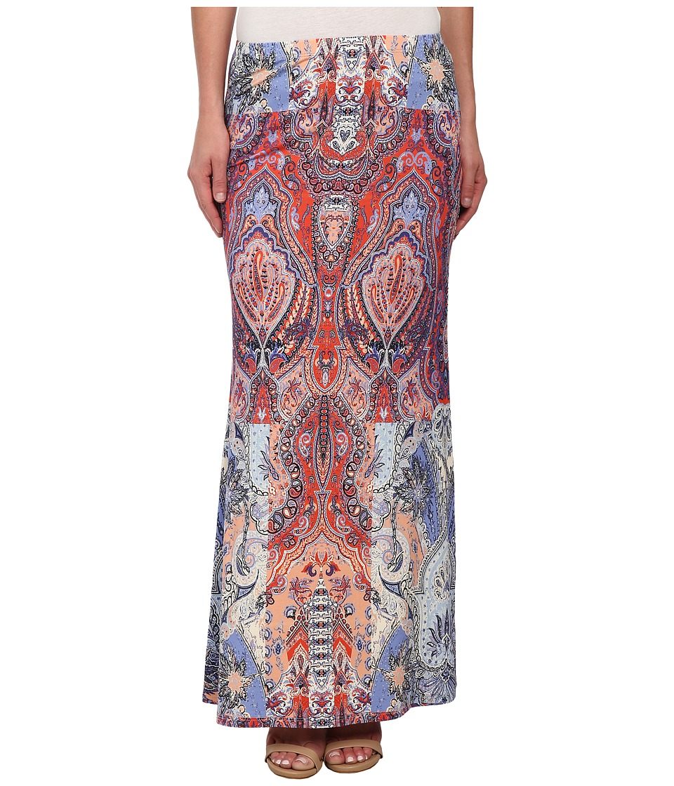 Karen Kane - Watercolor Paisley Maxi Skirt (Print) Women