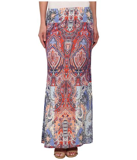 Karen Kane - Watercolor Paisley Maxi Skirt (Print) Women