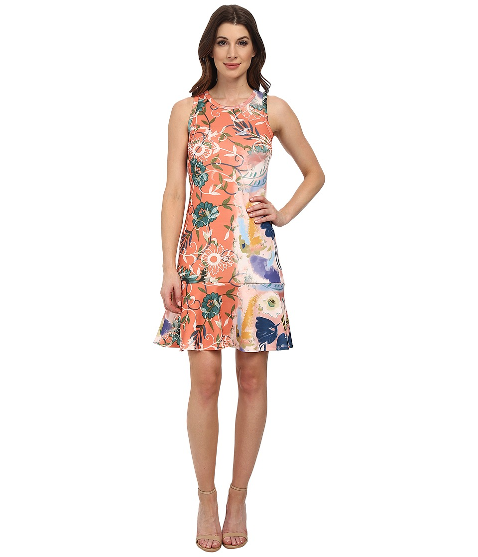 Karen Kane Painted Floral Scuba Dress (Print) Women