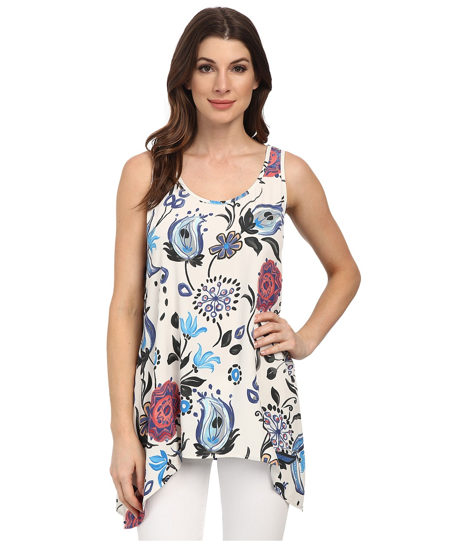 Karen Kane - Artistic Floral Handkerchief Tank Top (Print) Women's Sleeveless