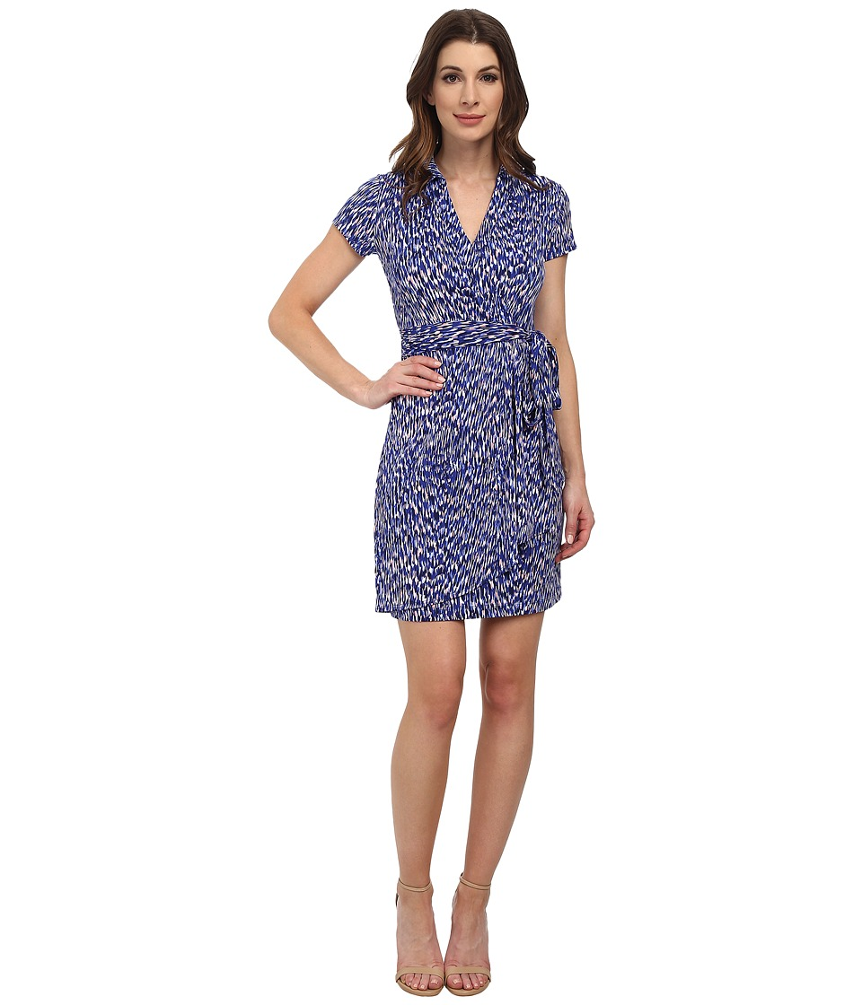 Karen Kane - Reflection Print Faux-Wrap Dress (Print) Women