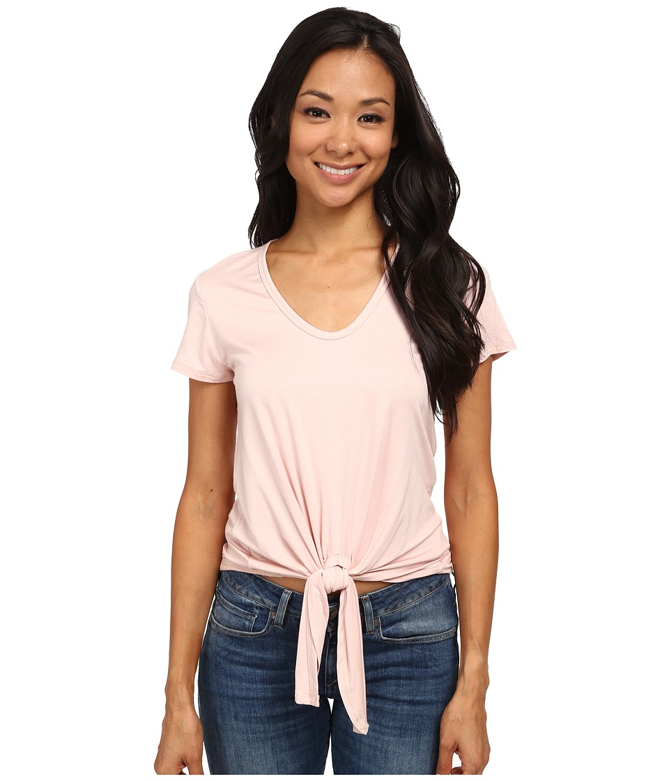 Karen Kane - Extended Sleeve Tie Front Top (Rose) Women's Short Sleeve Pullover