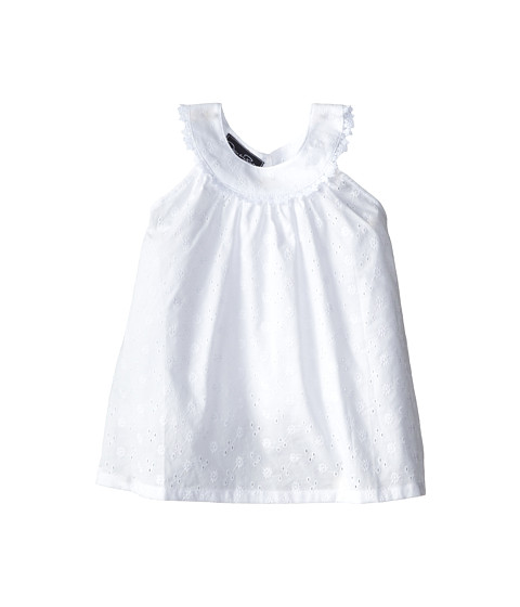 Oscar de la Renta Childrenswear - Eyelet Lace Circle Top (Toddler/Little Kids/Big Kids) (Optic White) Girl