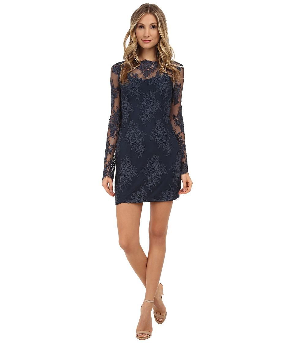 StyleStalker - Katara Long Sleeve Dress (Navy) Women's Dress