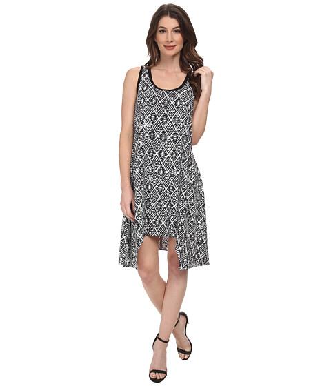 Karen Kane - Handkerchief Hem Dress (Print) Women's Clothing