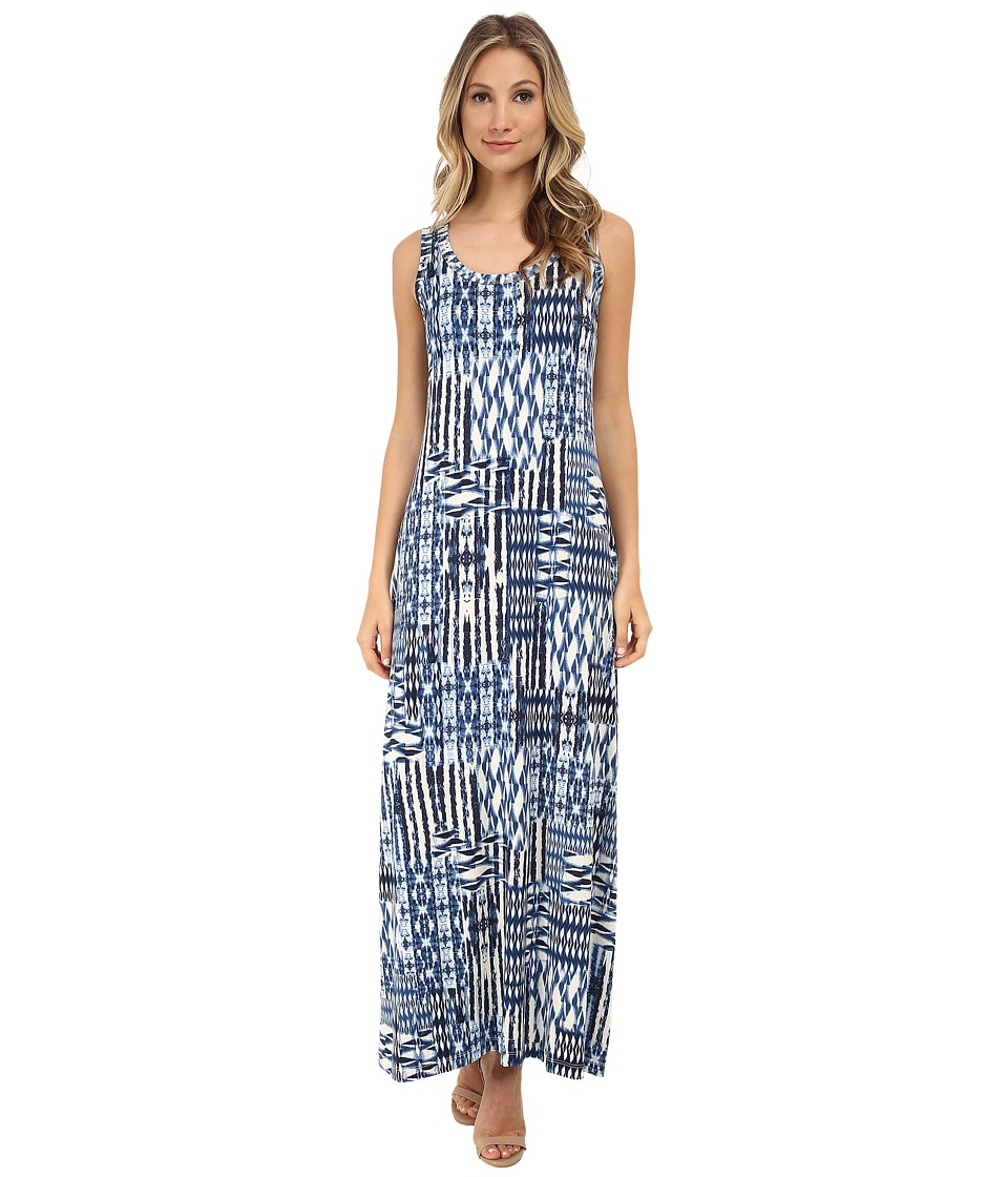 Karen Kane - Patch Tile Maxi Dress (Print) Women's Dress