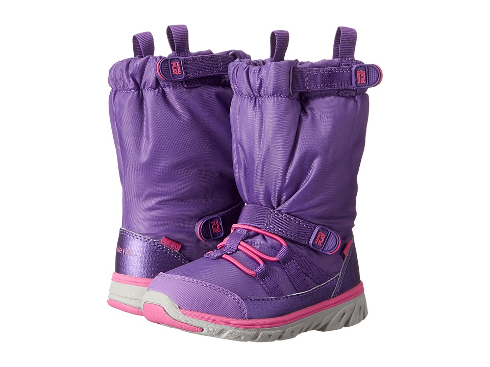 Stride Rite Made 2 Play Sneaker Boot (Toddler) (Purple) Girls Shoes