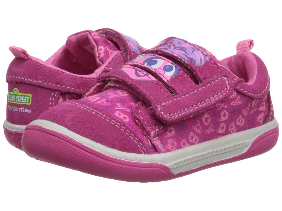 Stride Rite - Sesame Street Abby Cadabby 3-Strap (Toddler) (Pink) Girl's Shoes