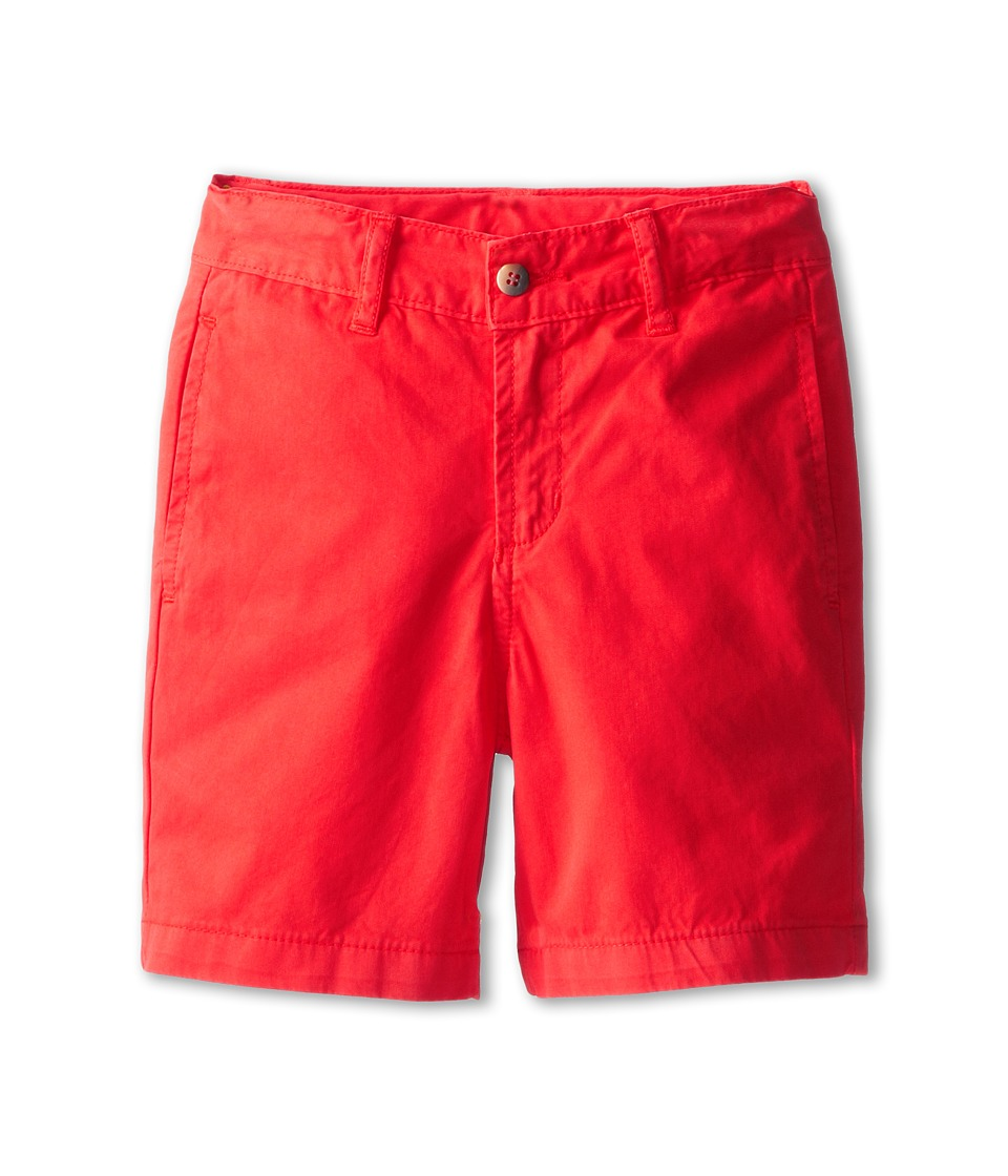 Oscar de la Renta Childrenswear - Cotton Twill Classic Shorts (Toddler/Little Kids/Big Kids) (Coral) Boy's Shorts