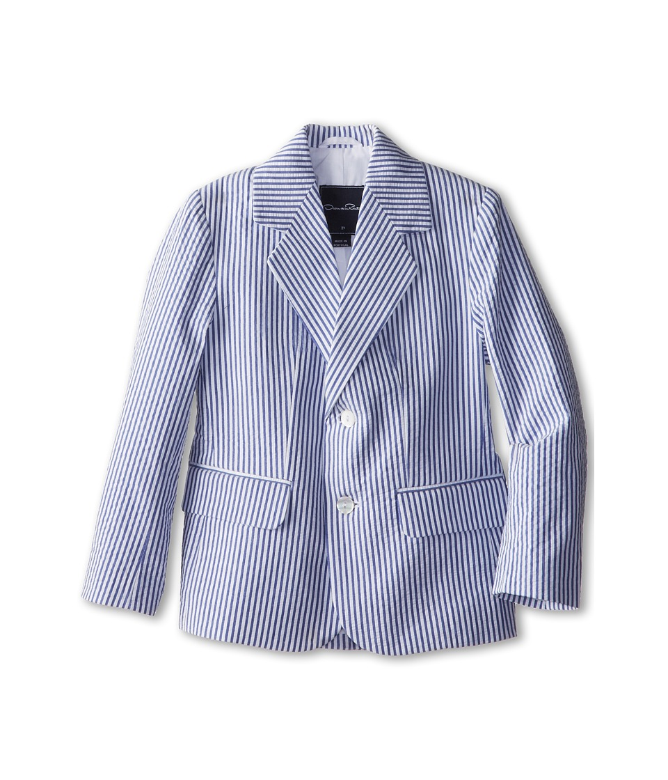 Oscar de la Renta Childrenswear - Seersucker Blazer (Toddler/Little Kids/Big Kids) (Navy) Boy's Jacket