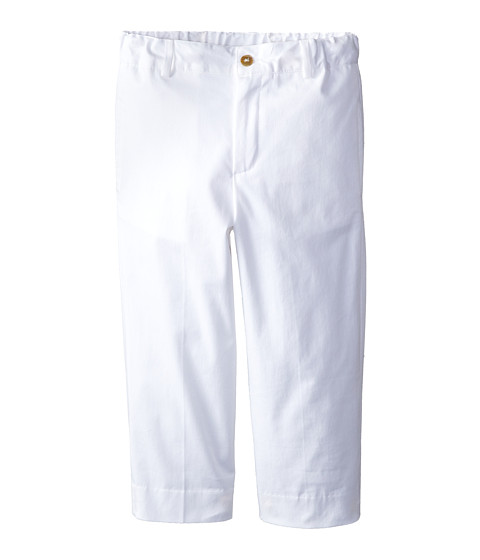 Oscar de la Renta Childrenswear - Cotton Poplin Classic Pants (Toddler/Little Kids/Big Kids) (White) Boy