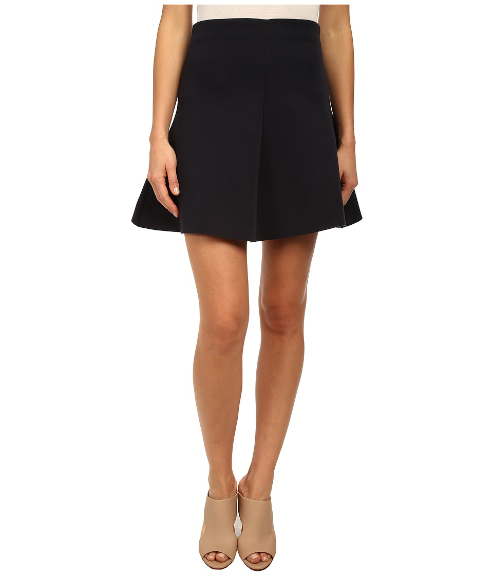 RED VALENTINO - Scuba Jersey Skirt (Dark Blue) Women's Skirt