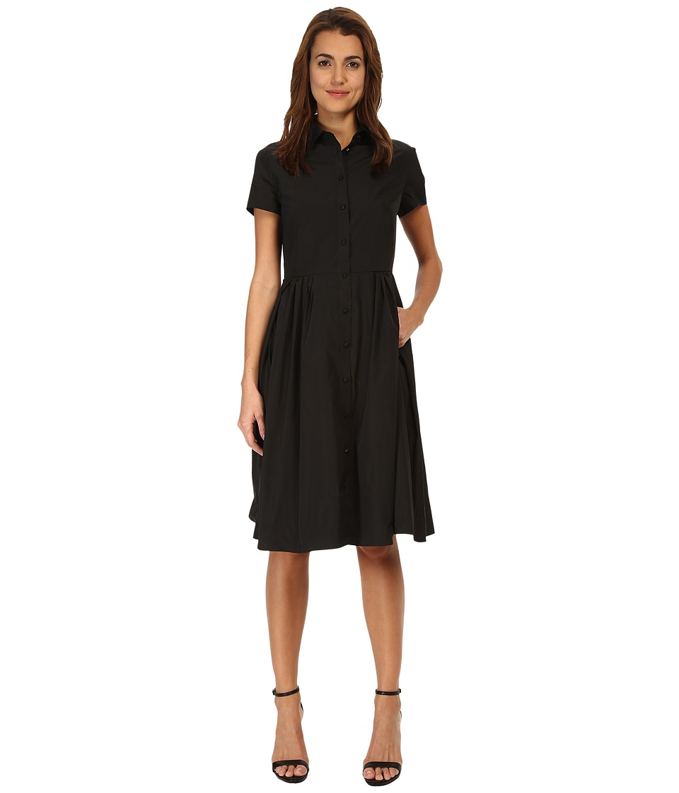 RED VALENTINO - Light Taffeta Dress (Black) Women's Dress