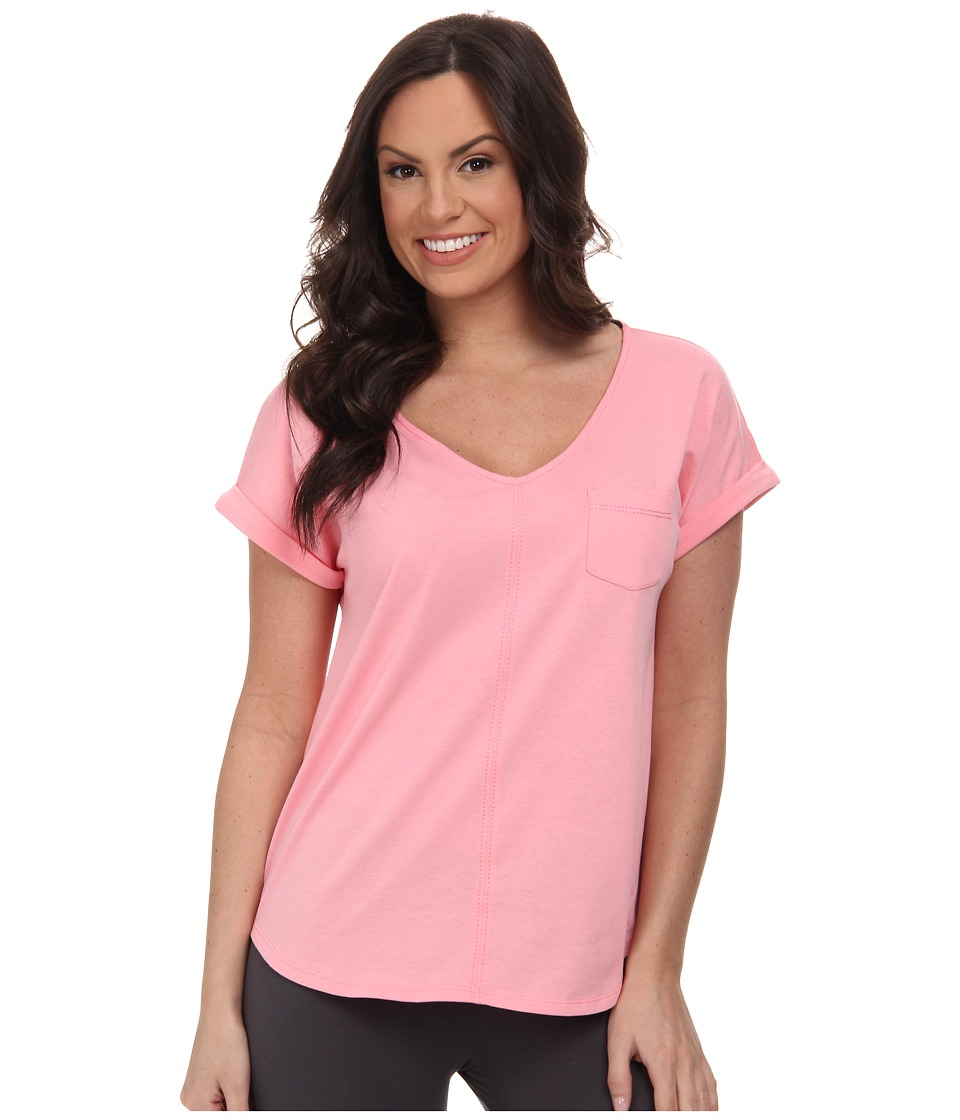 Karen Neuburger - Cherie Short Sleeve Pullover Top (Solid/Frosty Coral) Women's Pajama