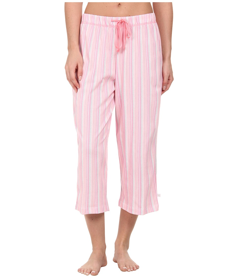 Karen Neuburger - Cherie Stripe Crop Pants (Frosty Coral) Women