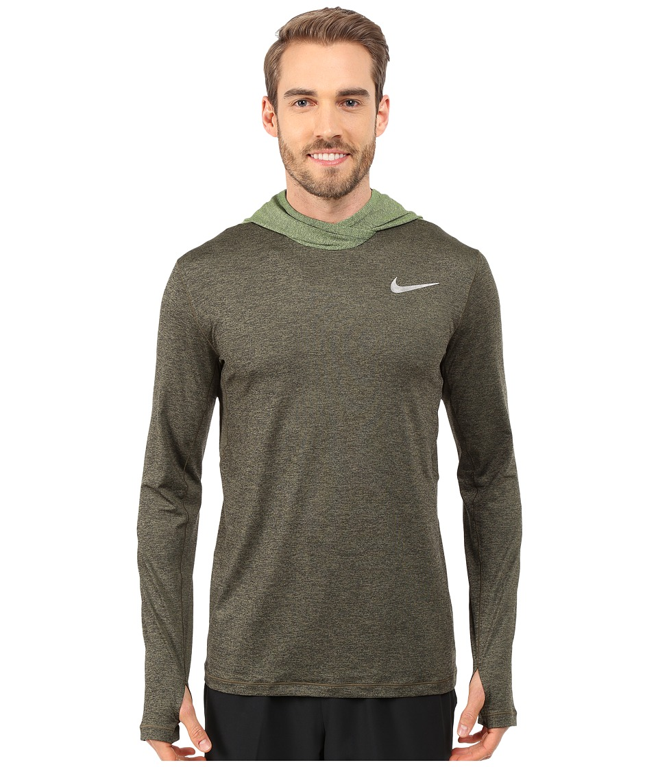 Nike - Ultimate Dry Hoodie (Black/Volt/Silver) Men's Sweatshirt