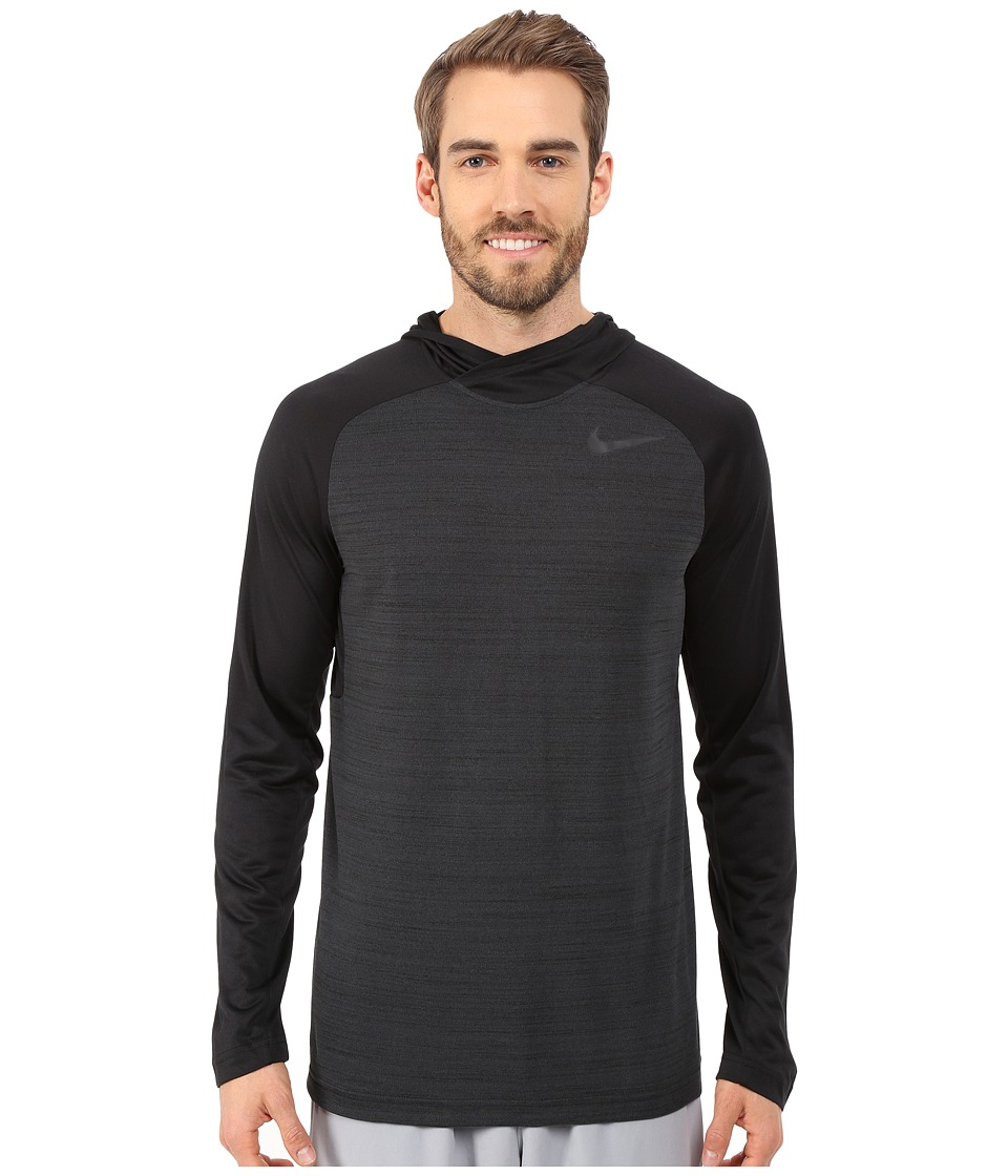 Nike - Dri-Fit Touch Long Sleeve Hoodie (Black Pine/Black/Cool Grey) Men's Sweatshirt