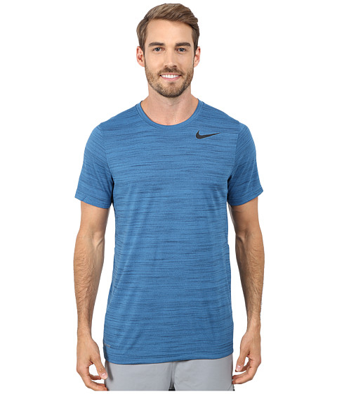 Nike - Dri-FIT Touch S/S Heathered (Brigade Blue/Squadron Blue/Heather/Black) Men's T Shirt