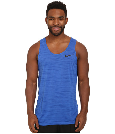 Nike - Dri-Fit Touch Tank (Game Royal/Deep Royal/Heather/Black) Men's Sleeveless