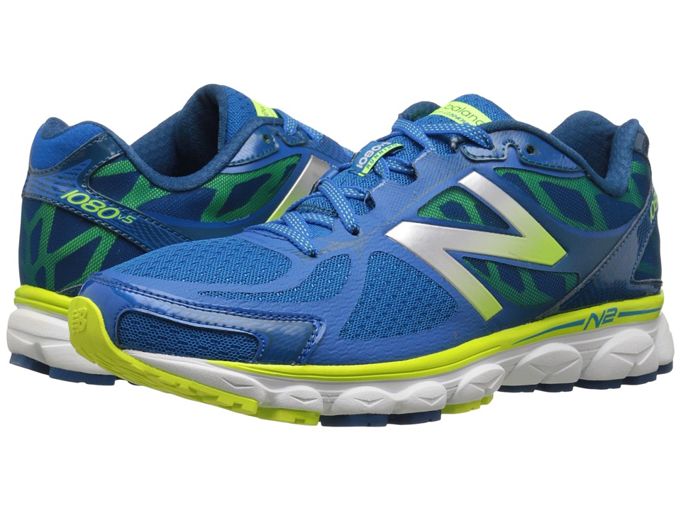 New Balance - M1080v5 (Blue/Yellow) Men's Running Shoes