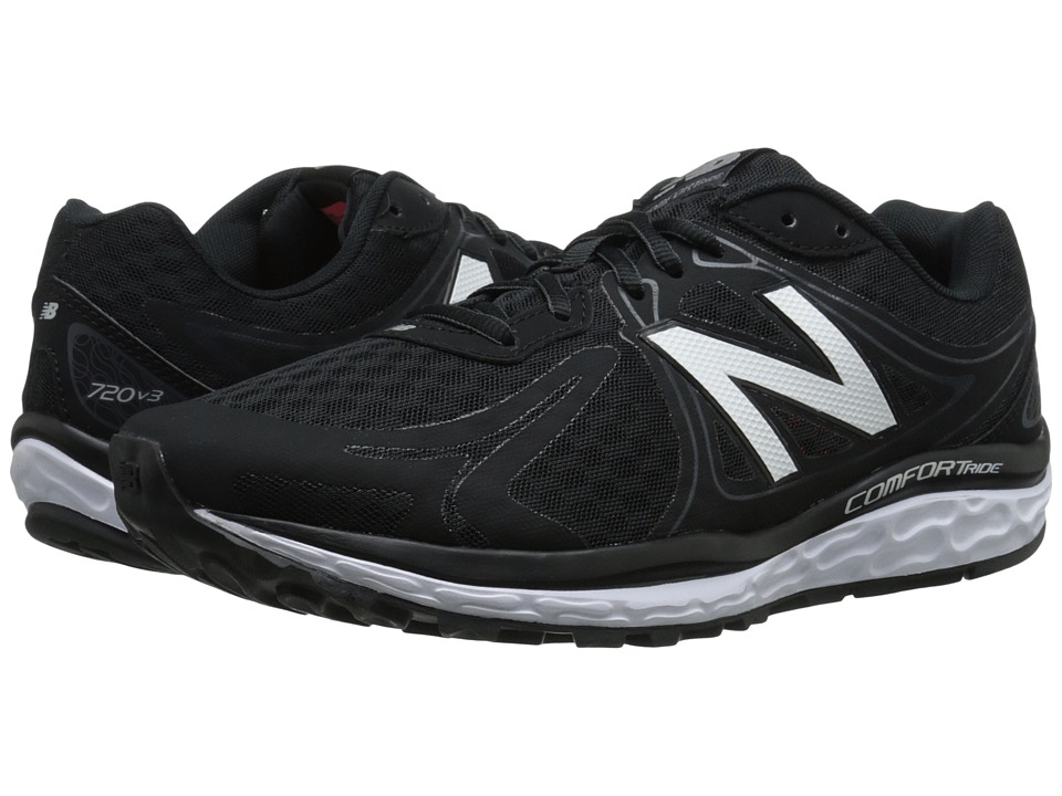 New Balance - M720v3 (Black/Grey/Silver) Men's Running Shoes