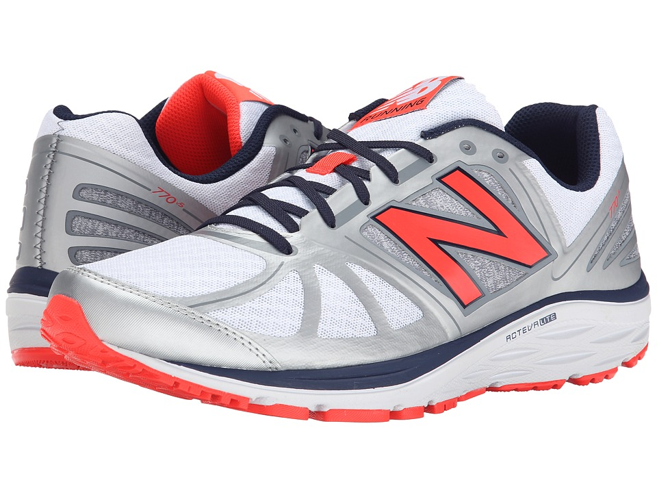 New Balance - M770v5 (Silver/Orange) Men's Running Shoes