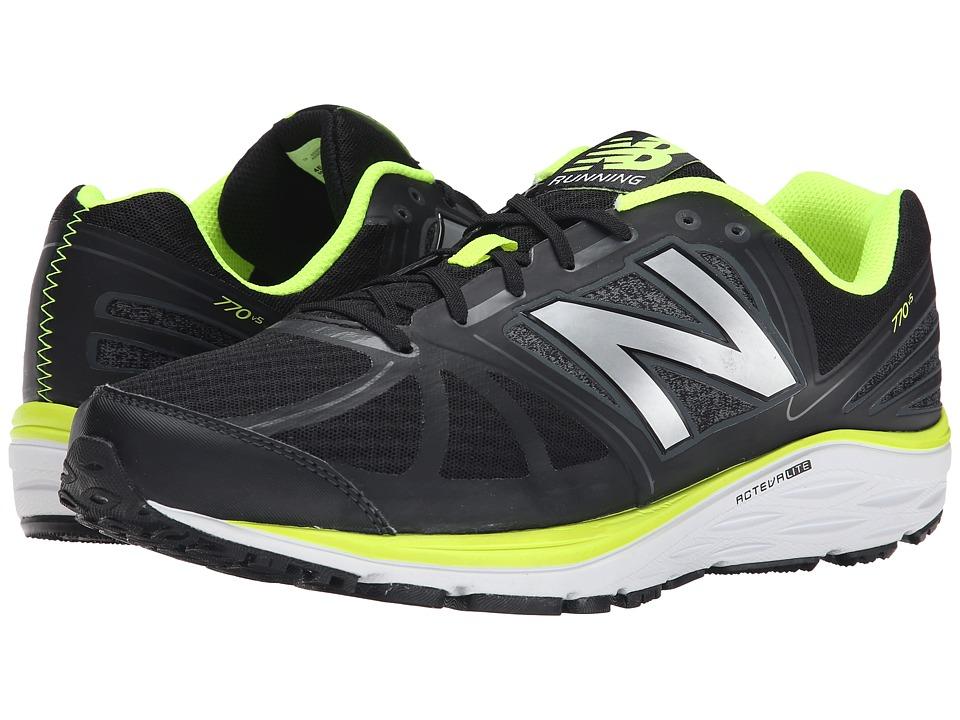 New Balance - M770v5 (Black/Yellow) Men's Running Shoes