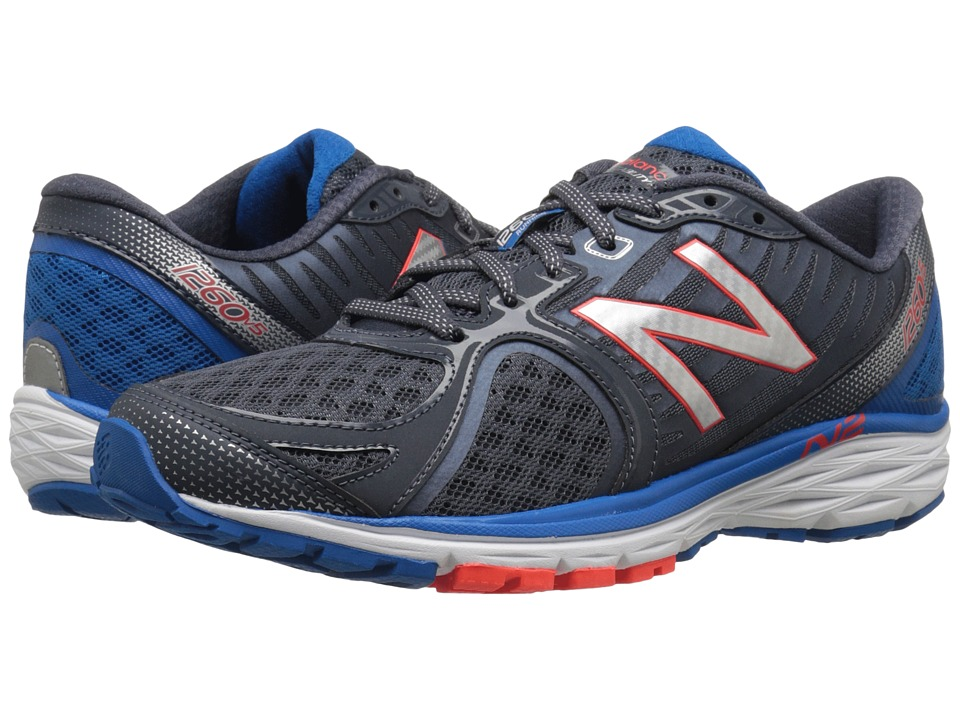 New Balance - M1260v5 (Silver/Blue) Men's Running Shoes