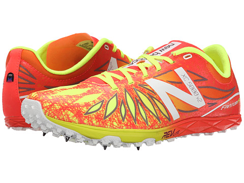 New Balance - MXC5000v2 (Spike) (Flame/Hi-Lite) Men's Running Shoes