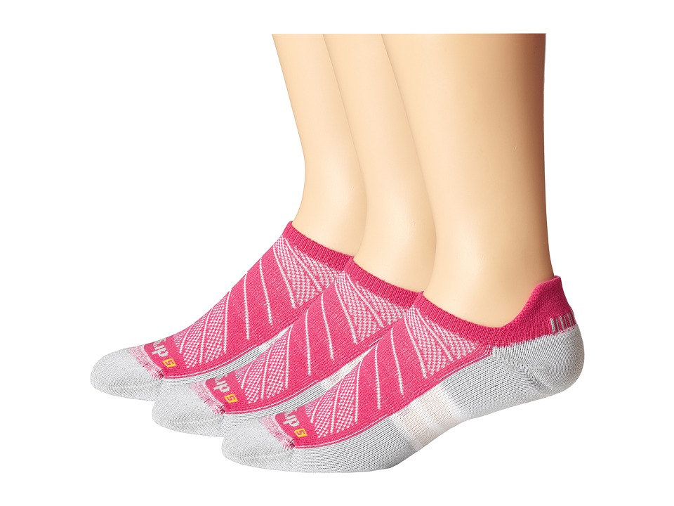 Drymax Sport - Max Cushion Run-Packaged No Show Tab 3-Pair Pack (October Pink) No Show Socks Shoes