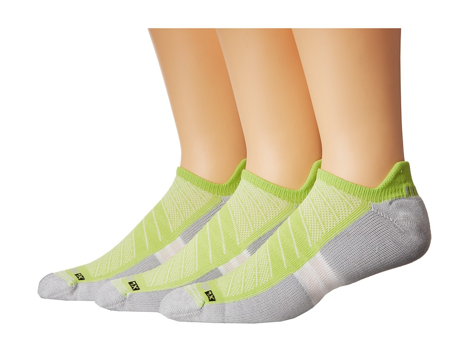 Drymax Sport - Max Cushion Run-Packaged No Show Tab 3-Pair Pack (Lime Green) No Show Socks Shoes