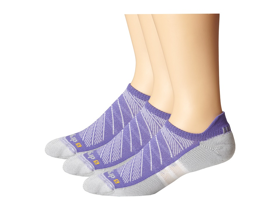 Drymax Sport - Max Cushion Run-Packaged No Show Tab 3-Pair Pack (Lilac) No Show Socks Shoes
